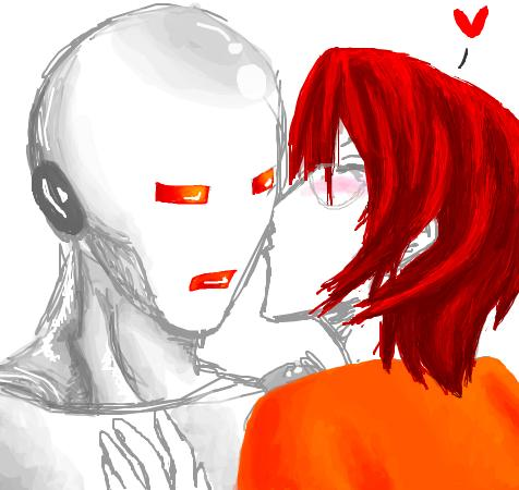 Robot make out!