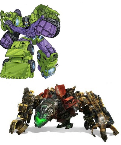 Devastator Comparison Character Transformer