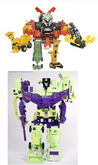 Devastator Toy Comparison Transformer