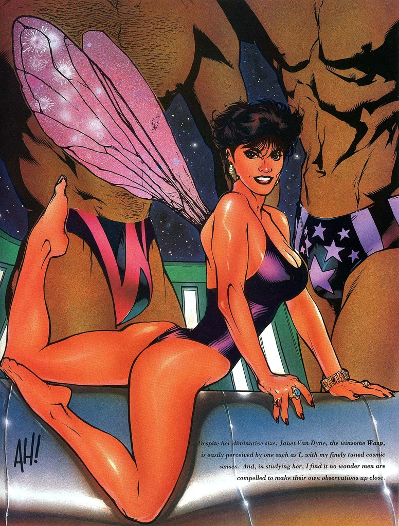 Adam Hughes WASP from MARVEL SWIMSUIT Special
