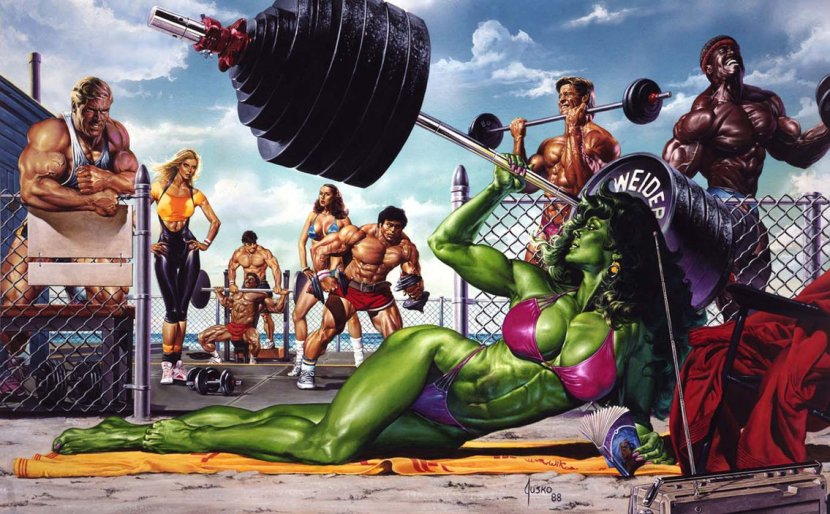 She_Hulk_on_Muscle_Beach_by_JoeJusko