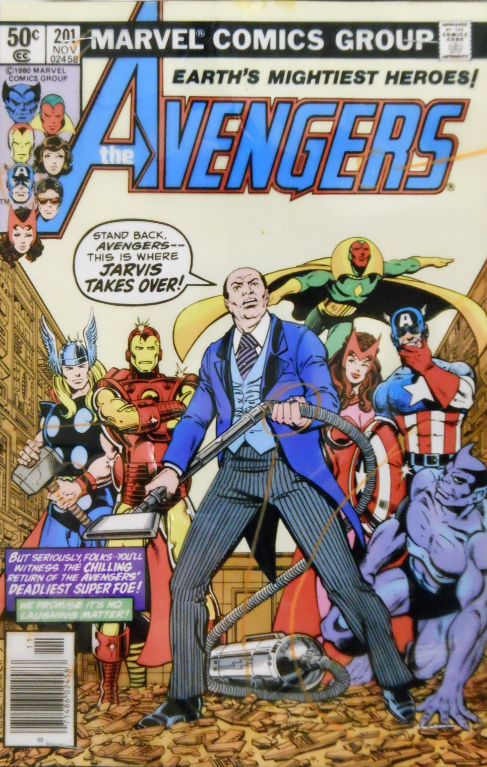 Comic Book Cover Of The Week Jarvis Leads Avengers