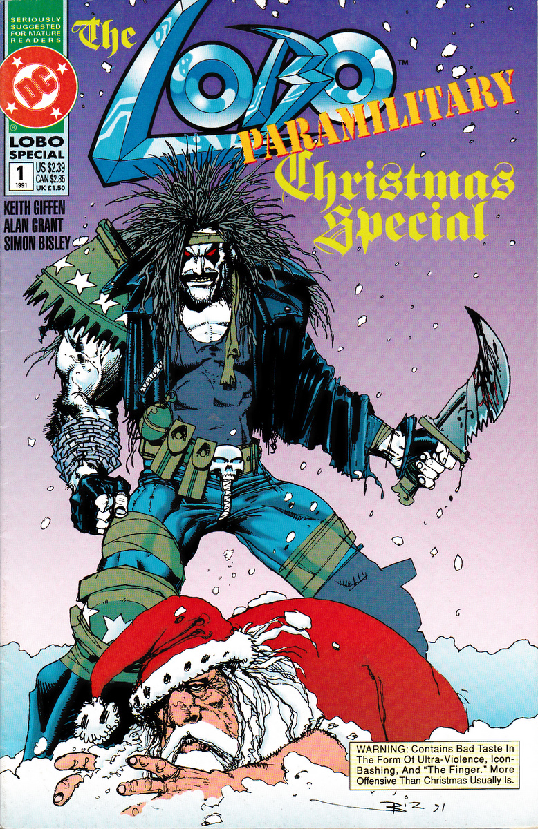 Christmas Comics.Christmas Comic Cover Of The Week Lobo Vs Santa Claus